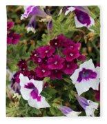 Petunias And Verbena I Fleece Blanket
