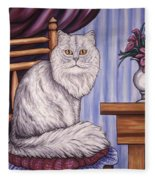 Pewter The Cat Fleece Blanket