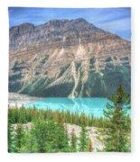 Peyto Lake 3 Fleece Blanket