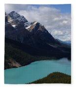 Peyto Lake Canadian Rockies Fleece Blanket