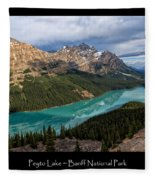 Peyto Lake Poster Fleece Blanket