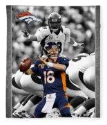 Peyton Manning Broncos Fleece Blanket