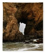Pfeiffer Beach Rocks In Big Sur Fleece Blanket