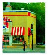 Pfk Poulet Frit Kentucky Kfc Sherbrooke And Decarie Montreal Art Restaurant Scenes Carole Spandau Fleece Blanket
