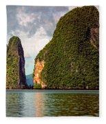 Phang Nga Bay Fleece Blanket