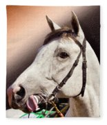 Phantom Lover Race Horse Looking On Fleece Blanket
