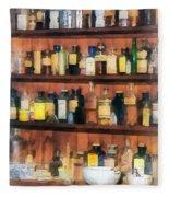 Pharmacist - Mortar Pestles And Medicine Bottles Fleece Blanket