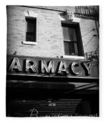 Pharmacy - Storefronts Of New York Fleece Blanket