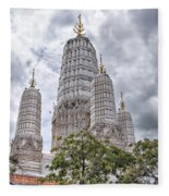 Phetchaburi Temple 17 Fleece Blanket