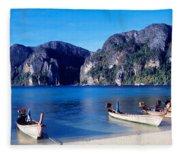 Phi Phi Islands Thailand Fleece Blanket