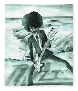 Phil Lynott In Howth Fleece Blanket