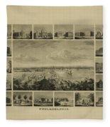 Philadelphia By J Serz Fleece Blanket
