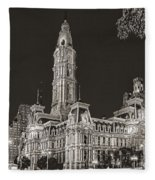 Philadelphia City Hall Mono Fleece Blanket