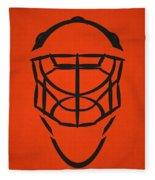 Philadelphia Flyers Goalie Mask Fleece Blanket