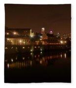 Philadelphia From The Schuykill Fleece Blanket