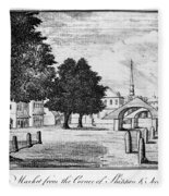 Philadelphia Market, 1788 Fleece Blanket