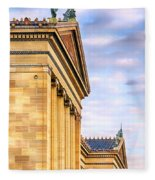 Philadelphia Museum Of Art Facade Fleece Blanket