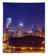 Philadelphia Nightscape Fleece Blanket