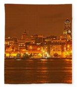 Philadelphia Skyline Panorama Fleece Blanket