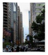 Philadelphia Street Canyon Fleece Blanket