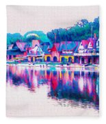 Philadelphia's Boathouse Row On The Schuylkill River Fleece Blanket