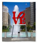 Philadelphia's Love Park Fleece Blanket