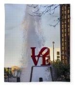 Philadelphia's Love Story Fleece Blanket