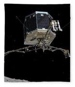 Philae Lander Descending To Comet 67pc-g Fleece Blanket