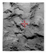 Philae Lander Touchdown Point On Comet Fleece Blanket