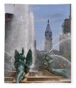 Philly Fountain Fleece Blanket