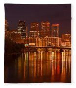Philly Lights Reflected Fleece Blanket