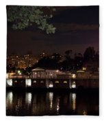 Philly Waterworks At Night Fleece Blanket