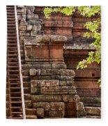 Phimeanakas Temple Steps Fleece Blanket