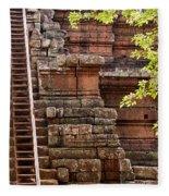 Phimeanakas Temple Steps Fleece Blanket