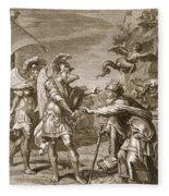 Phineus Is Delivered From The Harpies Fleece Blanket