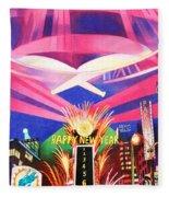 Phish New Years In New York Middle Fleece Blanket