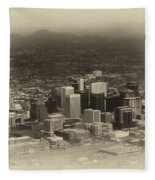 Phoenix Az Downtown 2014 Heirloom Fleece Blanket