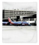 Phoenix Az Southwest Planes Fleece Blanket
