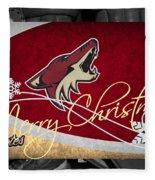 Phoenix Coyotes Christmas Fleece Blanket