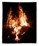 Phoenix Se Levant Des Flammes Fleece Blanket