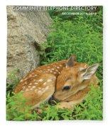 Phone Book Cover Fleece Blanket