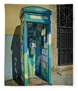 Phone Booth In Blues - Oporto Fleece Blanket