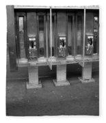 Phone Booth In New York City Fleece Blanket