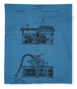 Phonograph Blueprint Patent Drawing Fleece Blanket