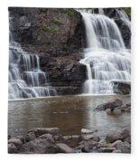 Photograph Of Lower Gooseberry Falls In Minnesota Fleece Blanket