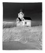 Photograph Of The Lighthouse Big Red In Holland Michigan Fleece Blanket