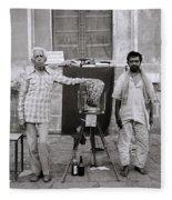 Photographer And Assistant Fleece Blanket