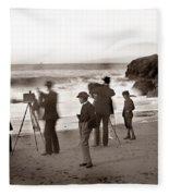 Photographer On The Beach California  Circa 1887 Fleece Blanket