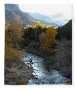 Photographing Zion National Park Fleece Blanket