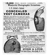 Photography Camera, 1889 Fleece Blanket